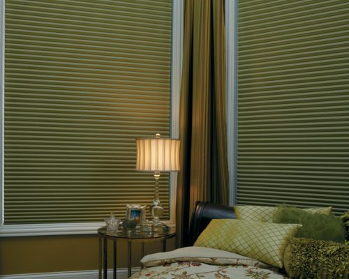 duette honeycomb shades bedroom