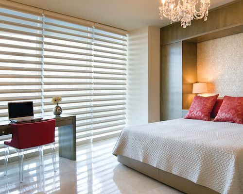 bedroom pirouette window shades