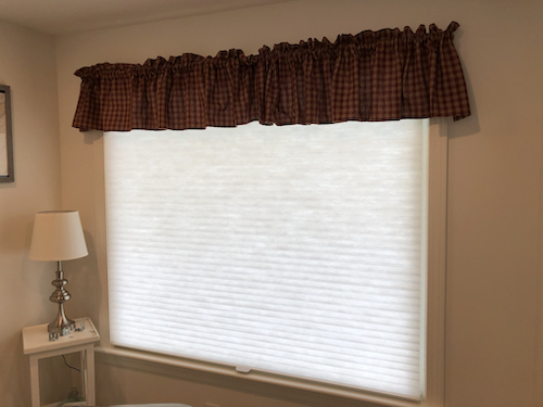 honeycomb shades valance