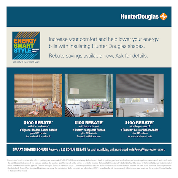 Hunter Douglas shades sale